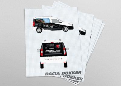 Potisk auta Dacia Dokker