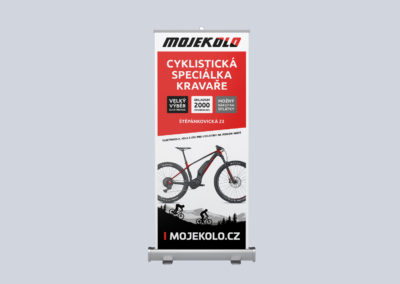 Roll-up Mojekolo prodejna Kravaře