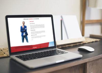 Osobní web pro obchodního zástupce