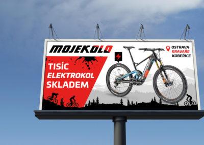 Billboard Mojekolo – tisíce elektrokol skladem